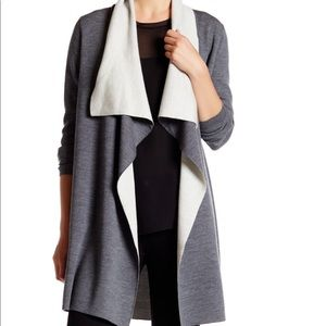Vince Two-toned drape cardigan merino wool